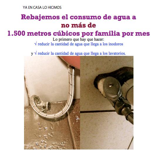 rebajemos el consumo de agua
